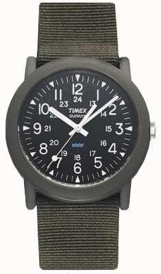 Timex Reloj para hombre verde negro expedición campista T41711