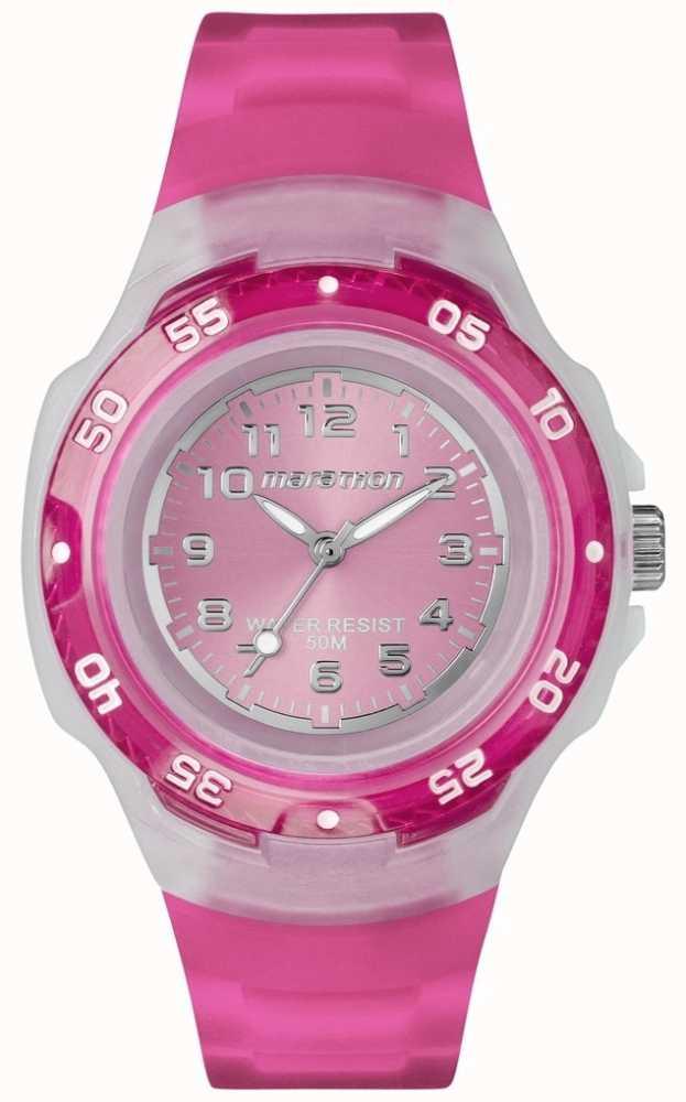 7c7f2498ab4e Timex Reloj Deportivo Maratón Rosa T5K367 - First Class Watches™ ESP