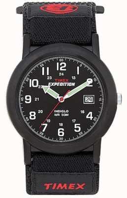 Timex Reloj negro para hombre de la expedición del campista T40011
