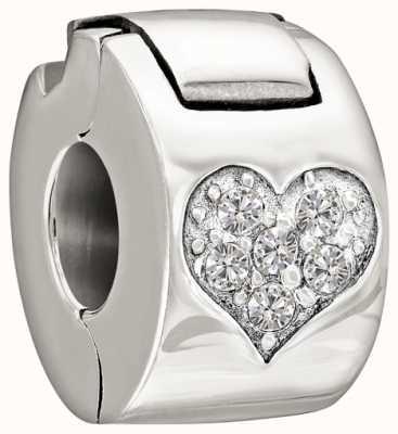 Chamilia Plata de ley con piedra - la cerradura del corazón de piedras preciosas - cristal 1430-0008