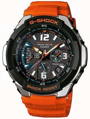 Casio correa de reloj anaranjado aviador para hombre GW-3000M-4AER