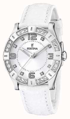 Reloj Señora Festina Acero Inoxidable Engaste Cristal Blanco F16537/1
