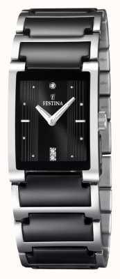 Reloj de Señora Festina Cerámica Negra, Acero Inoxidable, F16536/2