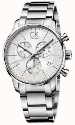 Calvin Klein ciudad Relojes de acero inoxidable K2G27146