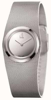 Calvin Klein Acero inoxidable, reloj de línea Ladies 'impulsiva, plata K3T23128