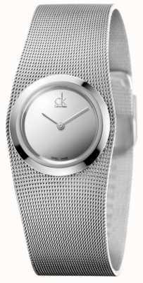 Calvin Klein Reloj impulsivo para mujer   correa de malla de acero inoxidable   K3T23128