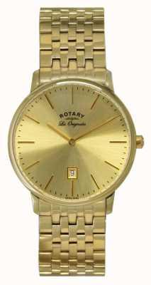 Rotary Mens Kensington les reloj originales placa de oro GB90052/03