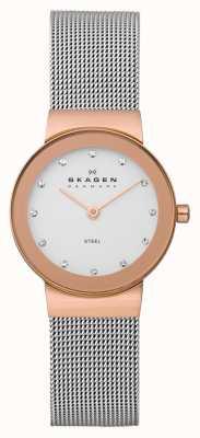 Skagen Freja reloj de señoras brazalete de metal 358SRSC