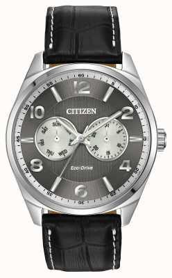 Citizen Reloj para hombre de línea gris de acero inoxidable AO9020-17H