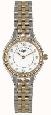 Rotary Señoras chapado de oro de oro reloj análogo de cuarzo LB02868/01