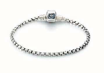 Chamilia Pulsera de cadena de caja de plata - oxidado (20 cm/7.9 in) 1012-0117