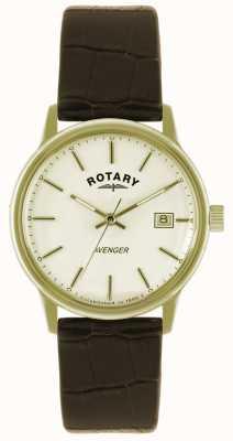 Rotary caballeros Avenger correa de reloj de la placa de oro GS02876/03