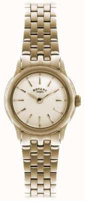 Rotary Señoras chapado de oro de oro reloj análogo de cuarzo LB02573/01