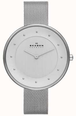 Skagen Damas klassik reloj de malla de plata SKW2140