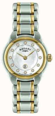 Rotary Señoras reloj pulsera de dos tonos LB02602/41L