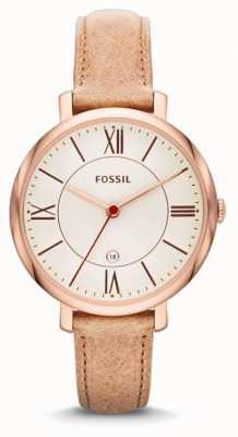 Fossil Jacqueline señoras, oro, reloj de la correa de color beige rosa ES3487