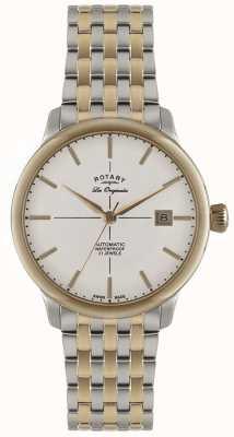 Rotary Reloj para hombre automático de Burlington dos tonos GB90061/06
