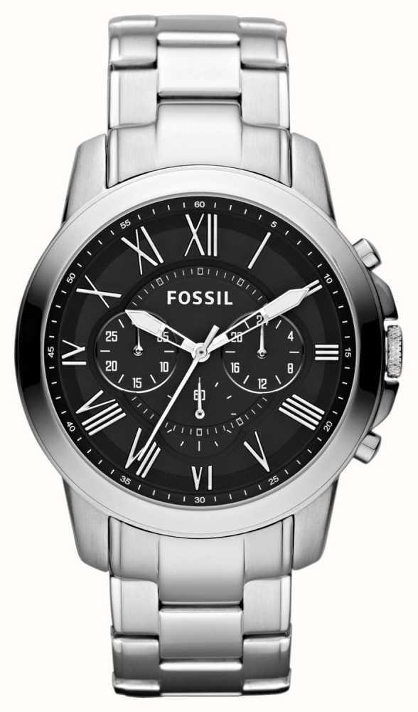 e485f0f6a6c0 Fossil Mens Conceden Reloj Cronógrafo De Plata Negro FS4736 - First ...