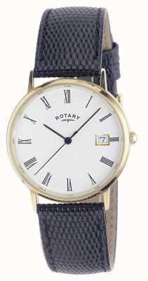 Rotary Mens 9ct reloj caja de la correa de oro GS11476/01