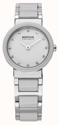 Bering Reloj de cerámica de tono dual 10725-754