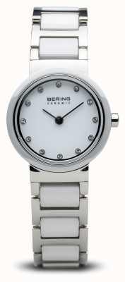 Bering Reloj de cerámica de doble tono minimalista. 10725-754