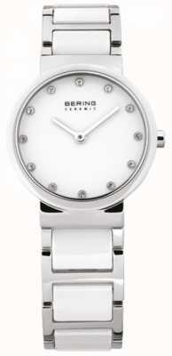 Bering Señoras blanco Reloj análogo de cuarzo de cerámica 10729-754
