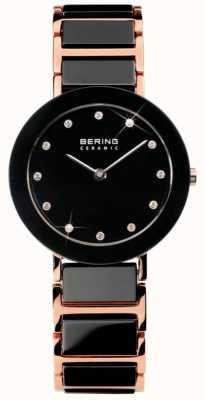 Bering El reloj cristalino de cerámica de doble tono Moderno 11429-746