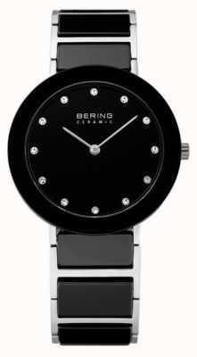 Bering Crystal inserción reloj de diseño de cerámica 11435-749
