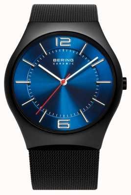 808c6f17579f Bering Tiempo para hombre reloj de la banda de malla de cerámica 32039-447