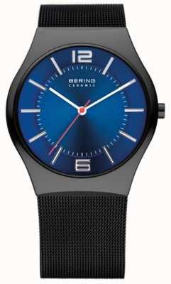 Bering Tiempo para hombre reloj de la banda de malla de cerámica 32039-447