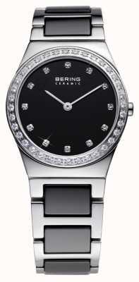 Bering Señoras Reloj análogo de cuarzo de cerámica negro 32430-742