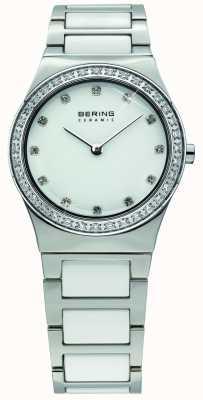 Bering Señoras blanco Reloj análogo de cuarzo de cerámica 32430-754