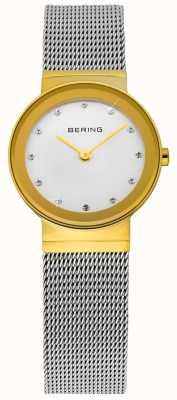 Bering Tiempo señoras de oro y plata de malla clásica 10122-001