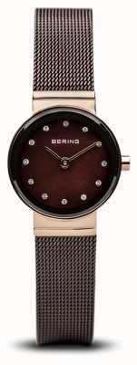 Bering Reloj clásico damas Tiempo marrón malla 10122-265