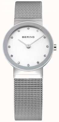 Bering Tiempo señoras reloj | correa de malla de acero inoxidable plateado | 10126-000