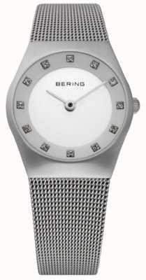 Bering Reloj minimalista para mujer | pulsera de malla de acero inoxidable | 11927-000