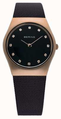 Bering señoras reloj de tiempo Milanese malla marrón 11927-262