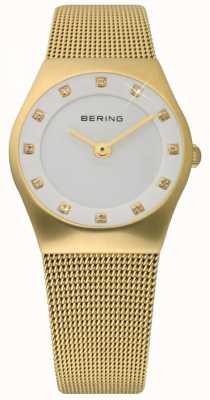 Bering Damas Tiempo reloj malla de oro 11927-334