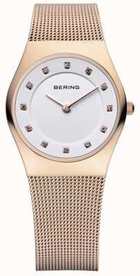 Bering Damas de acero inoxidable reloj análogo de cuarzo 11927-366