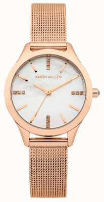 Karen Millen Damas de acero inoxidable reloj análogo de cuarzo KM140RMA