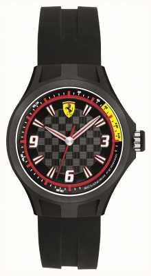 Scuderia Ferrari Mens equipo de mecánicos de caucho negro 50m 0820001