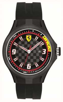 Scuderia Ferrari reloj de visualización de la fecha equipo de mecánicos caballeros 0830005