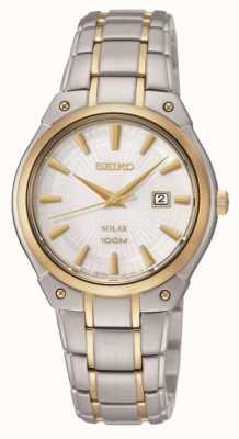 Seiko Dos tonos de señoras, reloj de la energía solar SUT128P1