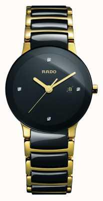 Rado Reloj Centrix Diamonds de alta tecnología con esfera negra de cerámica R30930712