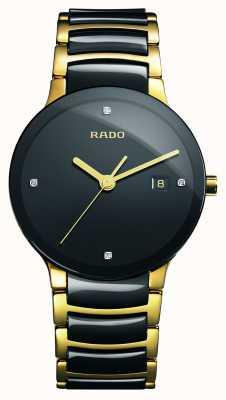 Rado Reloj de esfera negra de cerámica de alta tecnología Centrix Diamonds R30929712
