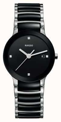 Rado Reloj de esfera negra de cerámica de alta tecnología Centrix Diamonds R30935712