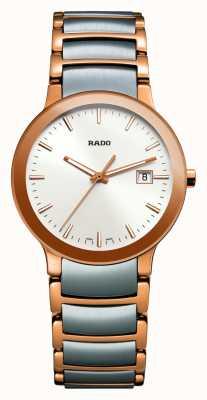 Rado Reloj Centrix de acero inoxidable en dos tonos con esfera blanca R30555103