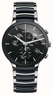 Rado Reloj de pulsera de cerámica negra con cronógrafo Centrix R30130152