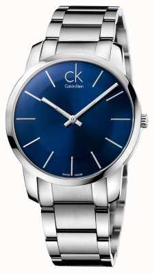Calvin Klein ciudad para hombre de acero de plata reloj pulsera K2G2114N
