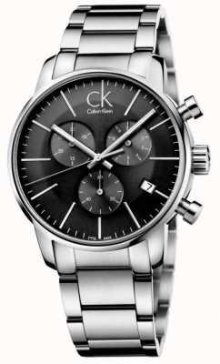 Calvin Klein Mens reloj de acero inoxidable gris reloj de hombre K2G27143